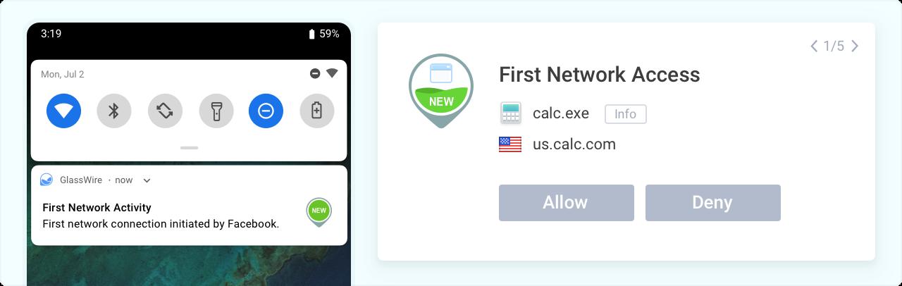 Primeiro acesso à rede